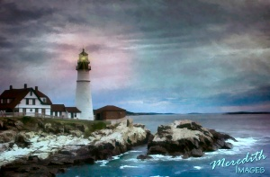 Portland Head Light Cloudy Day-ReStyle-web