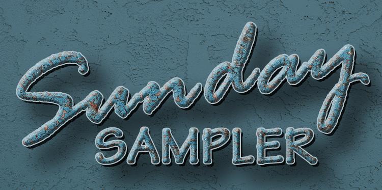 Meredith Images-Sunday Sampler Logo - blue textures